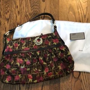 Authentic NWT Fendi Rose Zucca Chef Hobo!